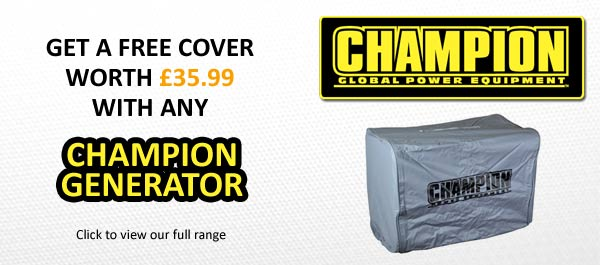 Free cover with all Champion Generators