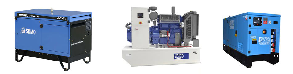 A wide range of generators for installation and commissioning