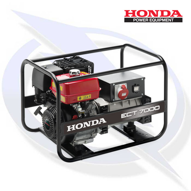 honda ect 7000 7kw 7kva 3 phase framed petrol generator. Black Bedroom Furniture Sets. Home Design Ideas