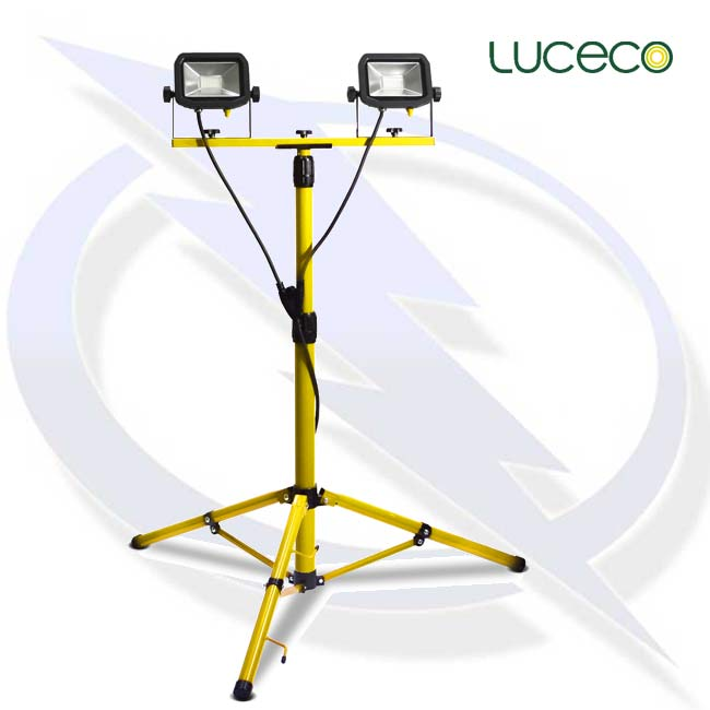 Luceco Site 110v Twin Head Tripod Work Light Energy Generator Sales
