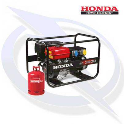 Honda EC3600 3.6kW/3.6kVA Framed Dual Fuel LPG Generator