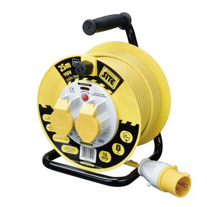 MASTERPLUG 110V 16A 25M SITE POWER 2 SOCKET CABLE REEL