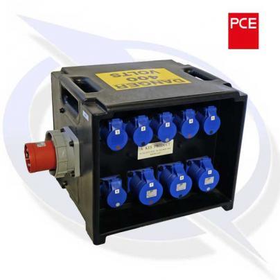 PCE A80 – Merz 63a 400v – 3 x 32a 6 x 16a 230v + RCBO's