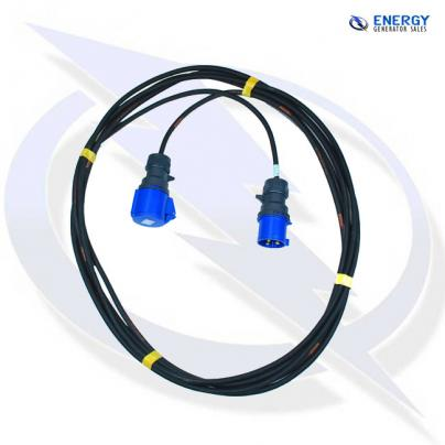 10M EXTENSION LEAD - 32A 230V SINGLE PHASE, 2.5MM H07 CABLE WITH PLUG & CONNECTOR