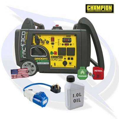 Champion 73001I-DF 3100 Watt Inverter Dual Fuel Generator