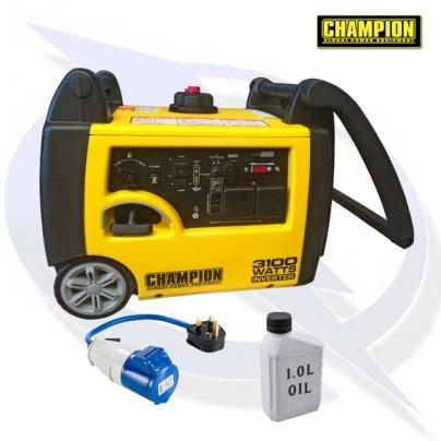 Champion 73001I-E 3500 Watt Inverter Petrol Generator 3 year warranty