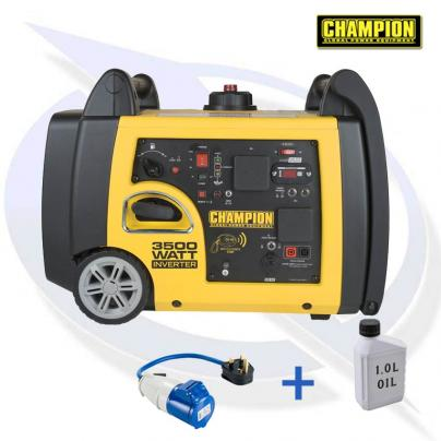 Champion 73001I-P 3400 Watt Inverter Petrol Generator - Electric Start