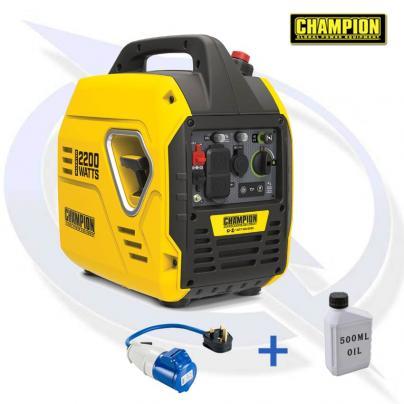 Champion 92001i 2200 Watt Mighty Atom Inverter Petrol Generator