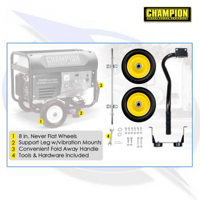 Wheel trolley kit for Champion CPG3500, CPG4000E1 & CPG4500 Generators