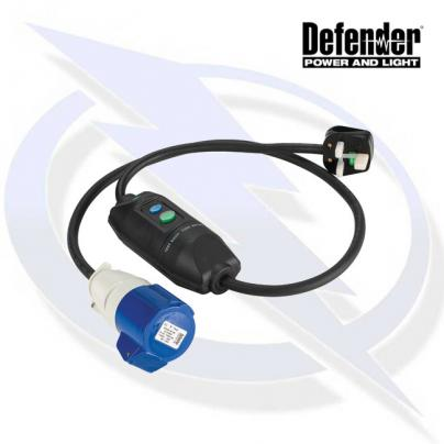 Defender In-Line RCD Unit - 13A Plug 16A Socket 240V