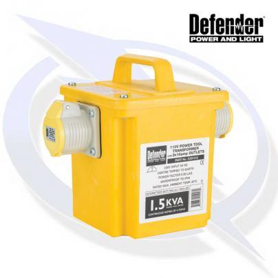 Defender 1.5kVA Transformer 2x 16A 110V Outlets