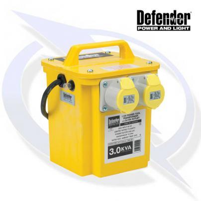 Defender 3kVA Transformer 2x 16A 110V Outlets