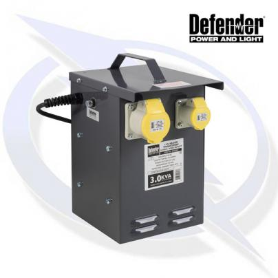 Defender 3kVA Heater Transformer 1x 32A & 1 16A Outlet 110V