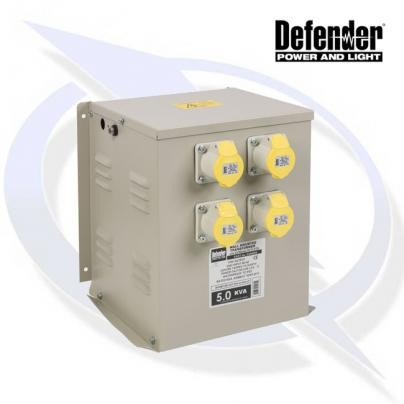 Defender 5KVA WALL MOUNTED TRANSFORMER 4X 16A 110V OUTLETS