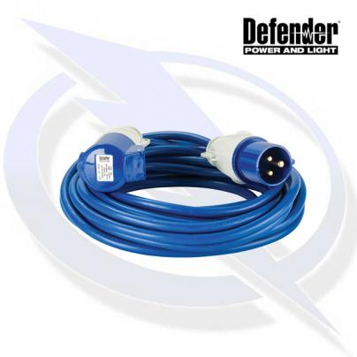 Defender 14M Extension Lead - 16A 1.5MM Cable - Blue 240V