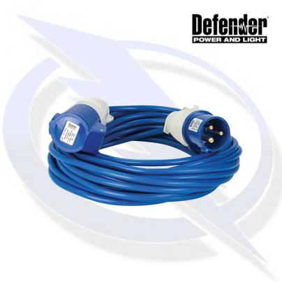 Defender 14M Extension Lead - 16A 2.5mm Cable - Blue 240V