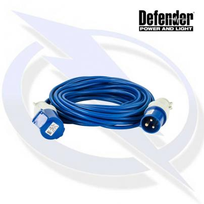Defender 25M Extension Lead - 16A 1.5mm Cable - Blue 240V