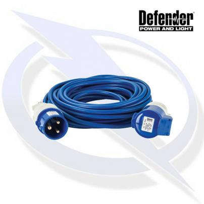 Defender 14M Extension Lead - 32A 2.5mm Cable - Blue 240V