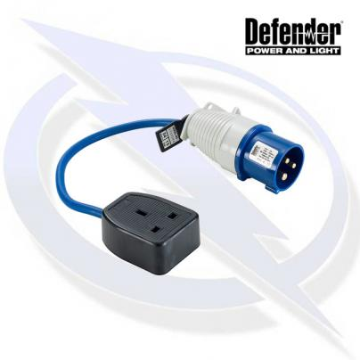 Defender 16-13A Fly Lead - 16A Plug 13A Socket 240V
