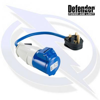 Defender 13-16A Fly Lead - 13A (Plug) 16A (Socket) 240V