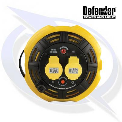 Defender 15M Cassette Reel - 16A 2 Way 1.5mm 110V