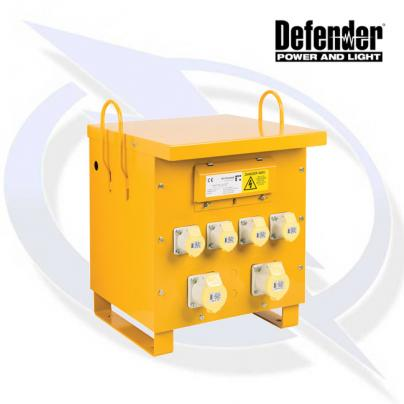 Defender 10KVA SITE TRANSFORMER 3 PHASE 4X 16A AND 2X 32A OUTLETS 415V