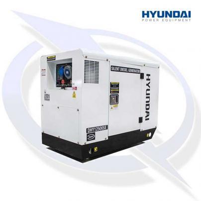 Hyundai DHY12500SE 10kW/12.5kVA 230v Mains Standby Silenced Diesel Generator