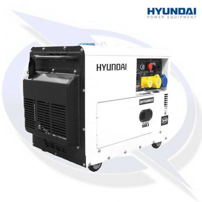 Hyundai DHY6000SE 6.5kVA/5.2kW Canopied Diesel Generator