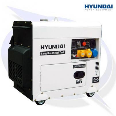 Hyundai DHY8000SELR AVR 7.5kVA/6kW Canopied Diesel Generator
