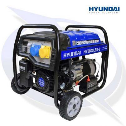 Hyundai HY3800LEK-2 3.2kW/4kVa Electric Start Site Petrol Generator