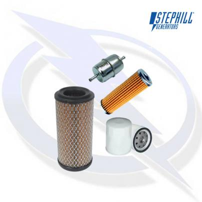 Service Kit (Oil, Fuel x2, Air filter) for Kubota D722 Stephill Generator Engines