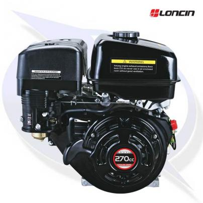 """Loncin G270F-B Engine with 1"""" Shaft - 2:1 Reduction Gearbox Replaces Honda GX270"""