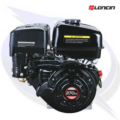"""Loncin G270F-P Engine with 1"""" Shaft - Replaces Honda GX270"""