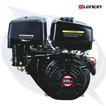 """Loncin G340F-EP Engine with 1"""" Shaft - Electric Start - Replaces Honda GX340"""