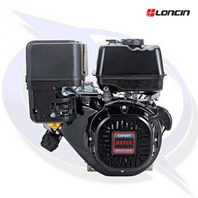 """Loncin G340F-P Engine with 1"""" Shaft - Replaces Honda GX340"""