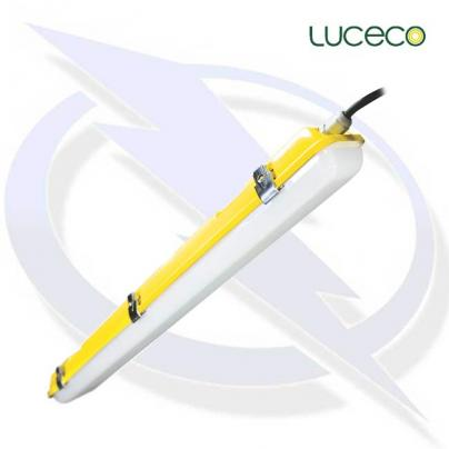 LUCECO Site 110v Climate 600mm Standard + 16A Plug and Coupler 1.5m Lead