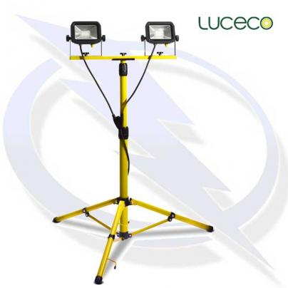 Luceco Site 110v Twin head Tripod Work Light
