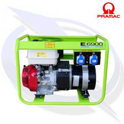 PRAMAC E6900 7KVA/6.4KW DUAL VOLTAGE PETROL GENERATOR