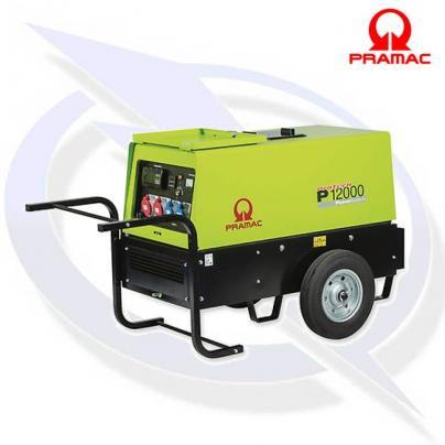 PRAMAC P12000 12kVA/9.5kW Electric Start 400V Inc Wheel Kit
