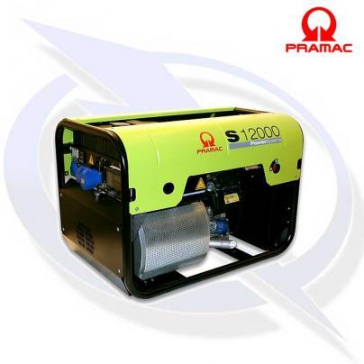 PRAMAC S12000 10KVA/9KW PETROL GENERATOR WITH AVR & CONN