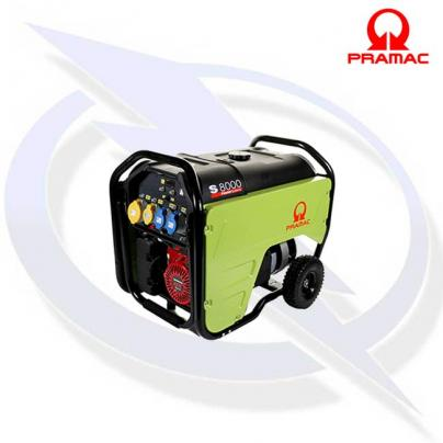PRAMAC S8000 6.0KVA/5.5KW PETROL GENERATOR WITH RECOIL START