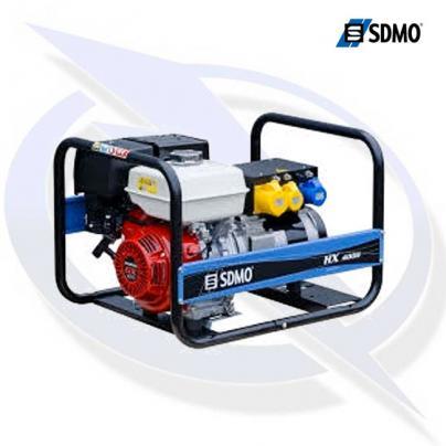 sdmo intens hx4000 tb 4.5kva/4.0kw frame mounted honda petrol generator