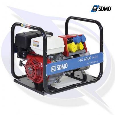sdmo intens hx6000 tb 6.6kva/6.0kw frame mounted honda petrol generator