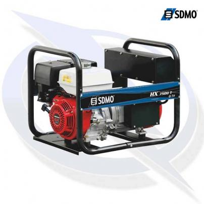 sdmo intens hx7500t 3 phase 7.5kva/6.0kw frame mounted honda powered petrol generator