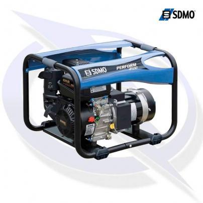 sdmo perform 4500tb 5.25kva/4.2kw frame mounted petrol generator