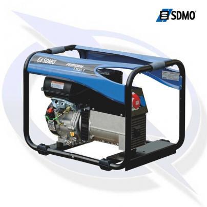 sdmo perform 5500 tb 3 phase 5.65kva/4.5kw frame mounted petrol generator