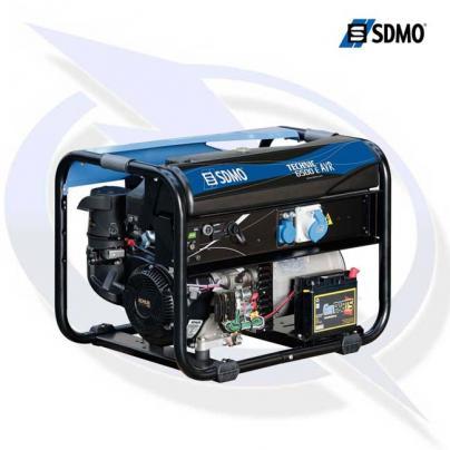 SDMO Technic 6500 E AVR 8.15kVA/6.5 kW Frame Mounted Petrol Generator