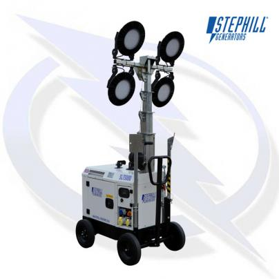 Stephill SLT5000 4.5kVA/3.5kW Super Silent Diesel Generator LED Lighting Tower