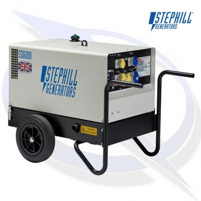 Stephill SSD6000 6kVA / 4.8KW Super Silent Single Phase Diesel Generator