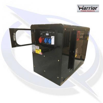 Warrior LDG12S3 13.7KVA/12.0kW 3 Phase Silent Diesel Canopy Generator